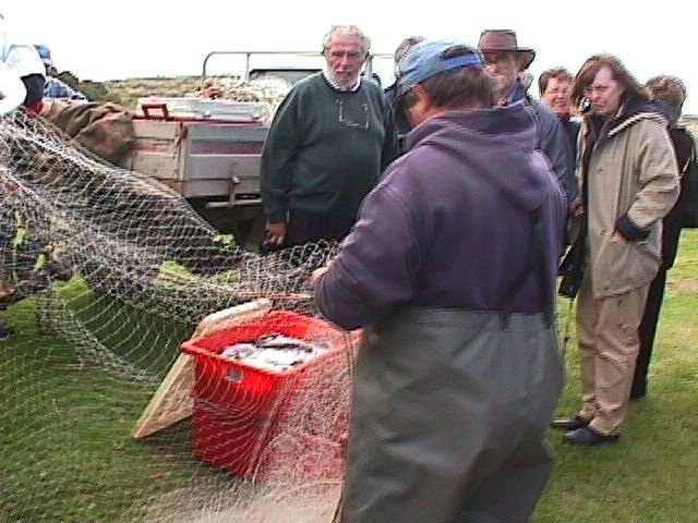 Garry Hera-Singh showing how to pick fish