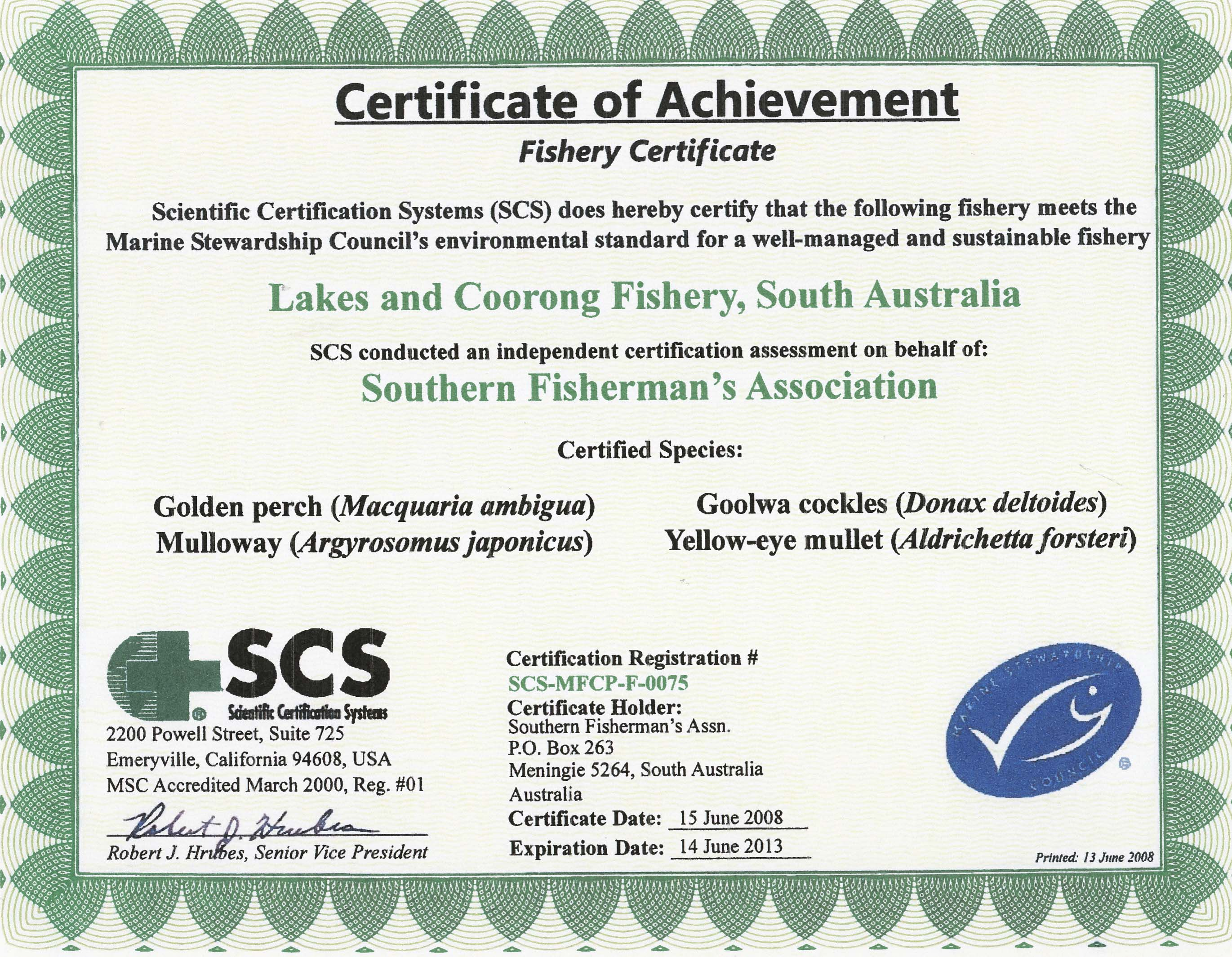 Coorong Fishery Photo Gallery