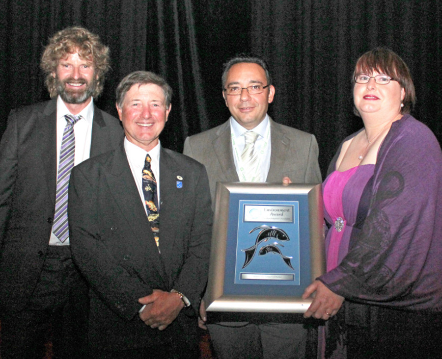 Glen Hill, Garry HeraSingh, Prof Mehdi Doroudi, Tracy Hill pictured at the Australian Seafood Industry Awards
